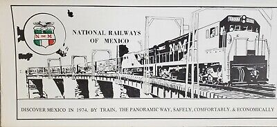 Lot of 2 timetables - 1974 National Railway of Mexico & Grand Trunk & Western