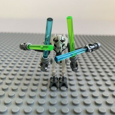 LEGO Star Wars Minifigure - General Grevious & X4 Lightsabers - Rare VGC SW0515