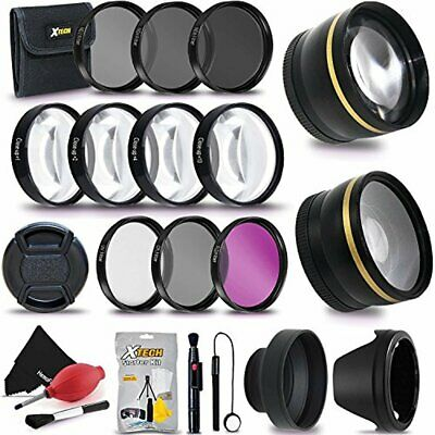 72mm Wide Angle / Telephoto Lens + Filters f/ Sony E PZ 18-105mm F4 G OSS