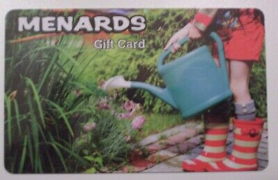 NEW MENARDS Unused Collectible GIFT CARD,Child Boots,Watering Can No Cash Value
