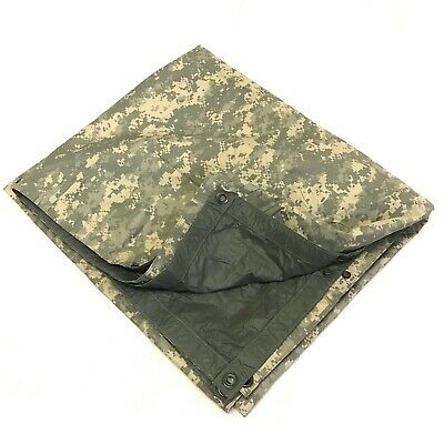 Waterproof Shelter Field Tarp Military ACU 80 x 80 Ground Cloth Tarpaulin DEFECT