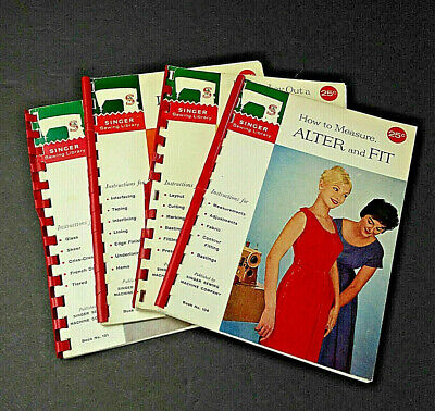 Vintage Singer Sewing Library Books Patterns Alterations Curtains Dressmaking