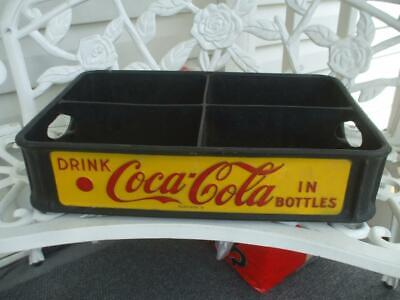 Vintage 1950's Drink Coca Cola Bottles Red Dot Coke King Crate Carrier 24-12 oz