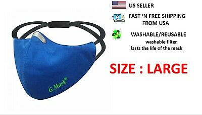 face mask Large washable reusable BFE 95 activated carbon filter GMASK
