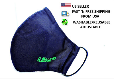 Face mask-NV-adjustable-washable-reusable BFE 95 activated carbon filter GMASK