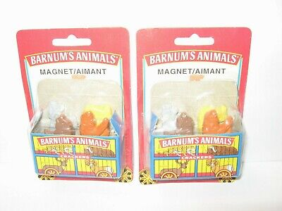 Set of 2 NEW Nabisco Barnum's Animals Crackers Train Cage Boxes w/8 Magnets