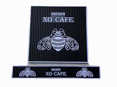 "Patron XO CAFE. Tequila Super Sized  17"". In Bar Mat  Combo Man Cave Home Bar."