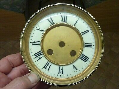 Good Antique French Clock Bezel-Glass- Dial & Falseplate-- (B)  Free Post