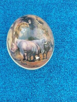 Ostrich  Egg  Collectible With Africa Scene
