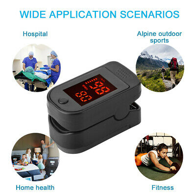 Finger Pulse Oximeter Blood Oxygen Saturation Blood Pressure Heart Rate Monitor