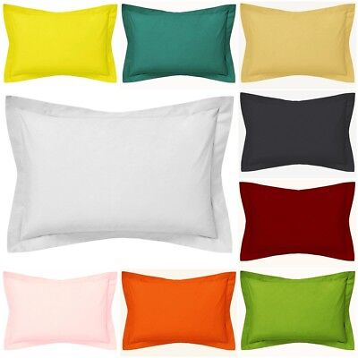Lumbar Pillow Cover Cotton with Flange - Toddlers / Travel  / Cot Pillow Case