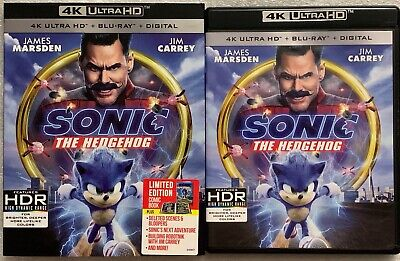 Sonic The Hedgehog 4K Ultra Hd Blu Ray  Slipcover Sleeve & Limited Edition Comic