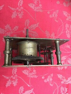 Part Longcase Grandfather  Clock Movement  For Spares Or Repair