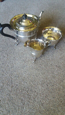 Sterling Silver Three Piece Teaset - 1900 + 1903