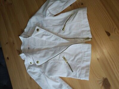 White biker Jacket Age 10 11worn once