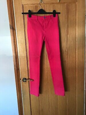 fuschia Bright Pink Little Girls Fat Face Age 10-11 Years Stretchy Jeans