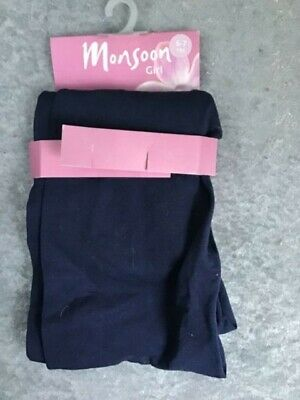 Tights Navy Blue Age 6-7 Yr  By Monsoon  💕 H1340