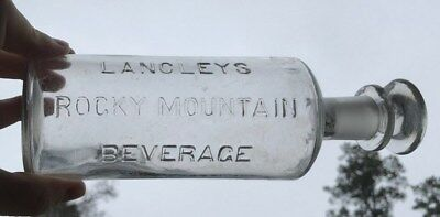 Langley's Rocky Mountain Bitters Bottle Rochester New York NY 1880's Rare Cure