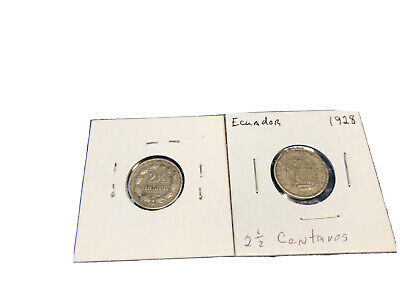 Ecuador 1928  Lot Of Two 2 1/2 Centavos