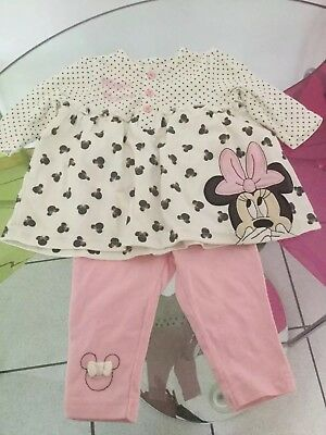 Disney Mini Mouse Top & Trousers Age 0-3 Months