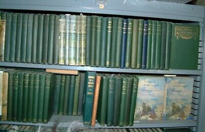 Hoard of 246 old Robert W. Service books, early printings, Alaska, Yukon