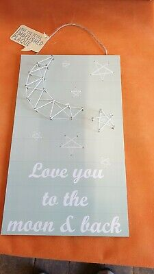 Wholesale Job Lot 24 x Embelished Wall Plaque Love You To The Moon And Back