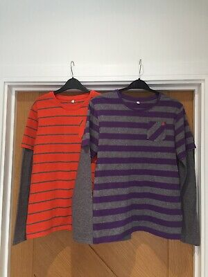 M&S Boys Long Sleeved Tops X2 Age 11-12