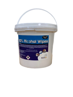 ALCOHOL WIPES  80% Heavy Duty Wipes 150  in a Tub Non Woven wipes 20 X 36 CM
