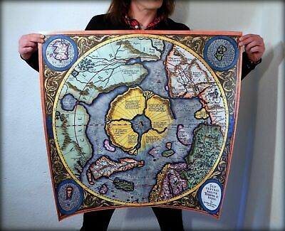Flat Earth, G. Mercator 1623 North Pole - Septentrionalium Terrarum Descriptio.