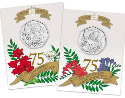 2020 Liberation Of Jersey And Guernsey Bu 5Op Coin Set Pre Order Until June
