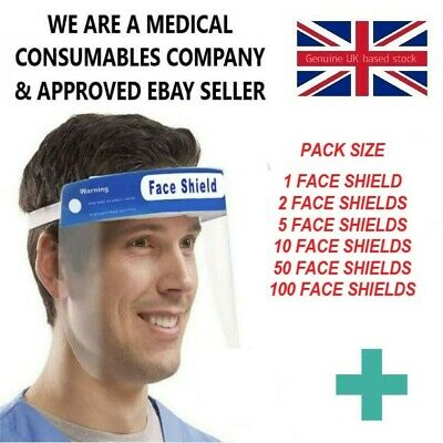 Face Shield Full Face Visor Protection Mask ppe Shield Clear Plastic Guard Masks