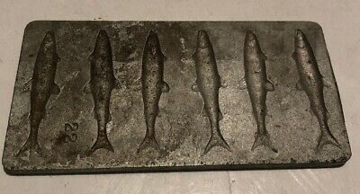 Vintage Metal Molder Insects And Fish
