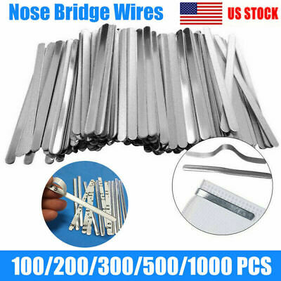 Aluminum Metal Nose Bridge Strips Adhesive Flat Bendable Making Twist Ties US
