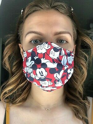 Face Mask Cotton Homemade Fabric Protection Mickey Mouse