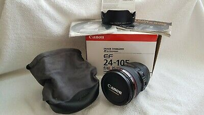 CANON ' L ' SERIES 24-105mm F/4 L I S USM LENS IN ' MINT CONDITION/LOW USAGE.