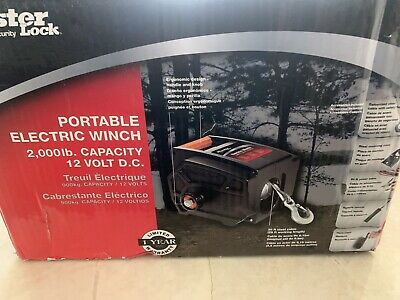 Master Lock Portable 12 Volt Winch Truck Cars Trailer Boat Hoist Portable New