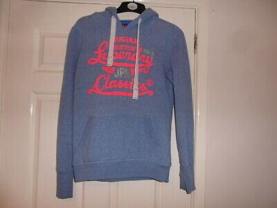 Superdry used  a size S and Light Blue  in colour hoodie