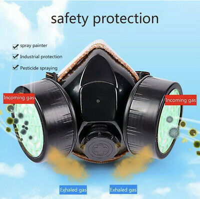 Dual Protection Emergency Gas Mask Respirator Filter Chemical Safety