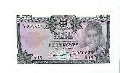 Zambia - 1973, Fifty (50) Ngwee  !!UNC!!