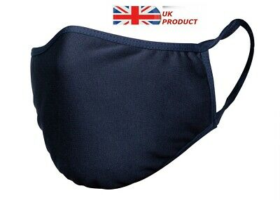 Unisex Adult Black Protection Face Mask Cover Breathable Washable Anti-allergic