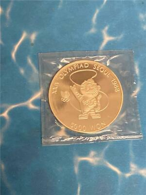 1988 South Korea 5000 Won Sterling Proof Olympics Tiger Mascot