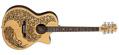 Luna Henna Paradise Select Spruce Acoustic Electric Guitar