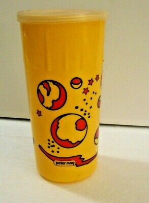 Peter Max Jello plastic shaker with lid - circa 1972