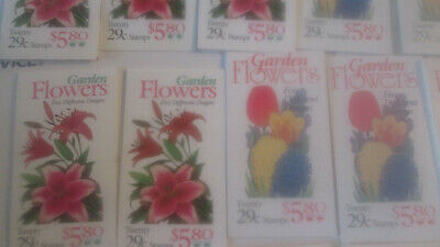 US Discounted Postage 280x 29c Flower stamps in 14x Booklets MNH Face $81.20