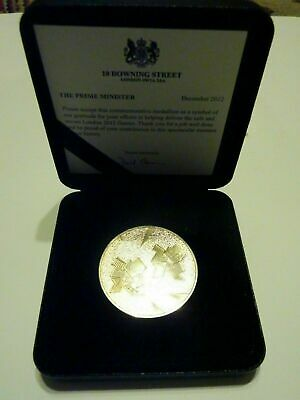 Medallion Commemorative Olympics London 2012 With Insert And Box
