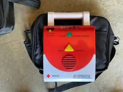 American Red Cross AED Defibrillator Trainer Device English Spanish Language CPR