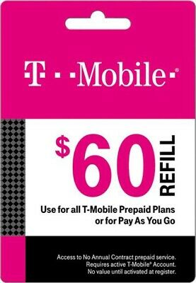 T-Mobile Prepaid $60 Refill Card (Direct)