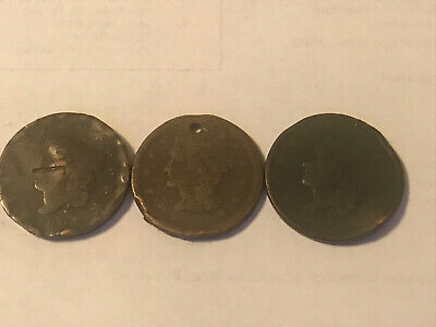 Lot Of 3 Large Cents
