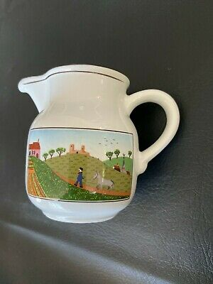 "Vintage Villeroy And Boch Design Naif Creamer 3.25"" Tall"