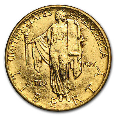 1926 Gold $2.50 America Sesquicentennial AU Details (Cleaned) - SKU#76482